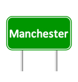 Manchester green road sign vector image vector image