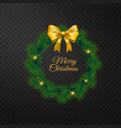 marry christmas and new year greeting card vector image vector image