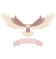 modern simple eagle icon design vector image