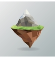 Mountain icon Polygonal image graphic vector image