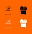multifunction printer or automatic copier icon vector image vector image