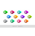 numbered colorful bullet points vector image vector image