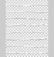 oblong torn transparent paper strips vector image vector image