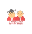 Old Couple Cartoon Style Icon vector image