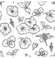 petunya seamless pattern of flowers vector image