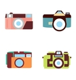 photo camera icons set in flat style vector image vector image
