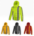 reflective jacket isolated on transparent vector image vector image