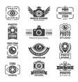 retro pictures and logos for photo studios vector image