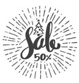 sale 50 percent drawing style for christmas vector image