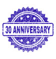 scratched 30 anniversary stamp seal vector image
