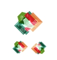 Set of abstract geometric paper graphic layouts vector image