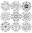Set of round lacy ornaments vector image