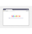 simple browser interface website window search vector image vector image