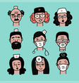 smiling medical staff avatar isolated hospital vector image