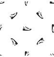 sneaker pattern seamless black vector image vector image