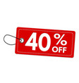 special offer 40 off label or price tag vector image vector image