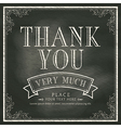 Thank You wording Vintage Chalkboard Background