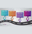 timeline infographics template 4 options design vector image vector image