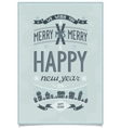 Vintage christmas wishes card vector image vector image