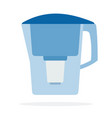water filter flat isolated vector image