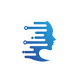 woman technology icon design vector image
