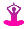 Woman yoga silhouette isolated on white vector image
