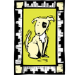 Woodcut Dog vector image vector image