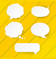 yellow banner with speech bubble vector image vector image