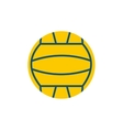 Yellow volleyball ball flat icon vector image vector image