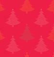 Seamless pattern Christmas tree vector image