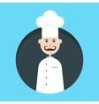 chef avatar in dark circle vector image