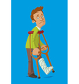 Man with crutches vector image