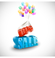 3D BIG SALE with colorful bubbles vector image