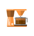 coffee maker in flat style vector image