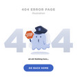404 error page not found design with ghost vector image vector image