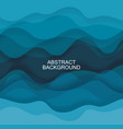 abstract background from blue transparent waves vector image vector image