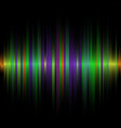 abstract color line dark background vector image vector image