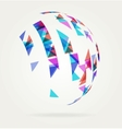 Abstract Globe Design Background vector image vector image