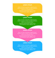 abstract infographic background vector image vector image