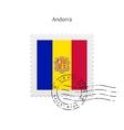 Andorra Flag Postage Stamp vector image vector image