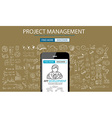 App Development Concept Background With Doodle