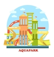 Aquapark outdoor exterior view panorama vector image