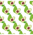 avocado seamless pattern vector image
