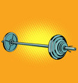 barbell weightlifting sports vector image