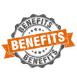 benefits stamp sign seal vector image vector image