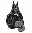 bodybuilder anubis vector image vector image