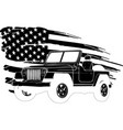 car with american flag vector image