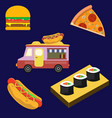 cartoon set objects and symbols on fast vector image