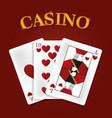 casino game concept vector image