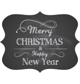 Chalkboard christmas vector | Price: 1 Credit (USD $1)